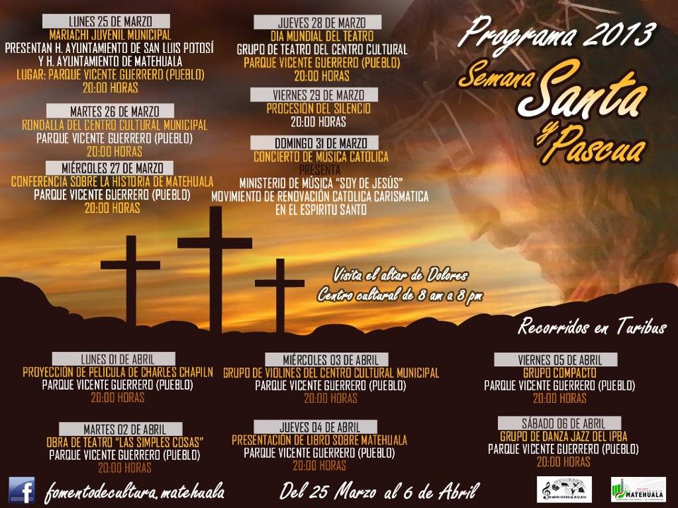 Programa Cultural Semana Santa y Pascua